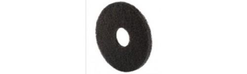 Gamme de disques noirs pour décapage soigné de tous sols avec Monobrosse.