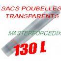Sacs poubelles 130 L BD transparents 45 microns x 200