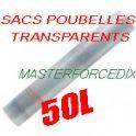 Sacs poubelles 50 L transparentsx500 16 microns