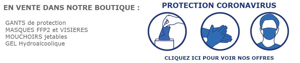 Produits contre le Coronavirus - Gel - Gants - Masques - Mouchoirs